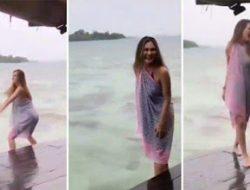 Mengenakan Bikini, Luna Maya Pemerkankan Goyang Seksi Dibibir Pantai, Lihat Vidionya