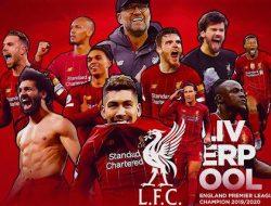 Liverpool Kunci Gelar Juara Premier League Musim 2019-2020