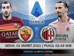 Liga Italia: AS Roma vs AC Milan, Misi Merangsek Papan Atas Klasemen