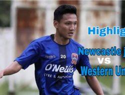 Debut Bersama Newcastle Jets, Syahrian Abimanyu Hampir Cetak Gol