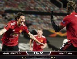 Liga Eropa: Manchester United Ngamuk di Old Trafford, AS Roma Jadi Korban