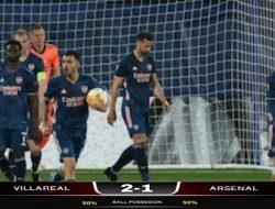 Liga Eropa: Dua Kartu Merah Warnai Laga, Arsenal Takluk Dari Villarreal dengan Skor 2-1