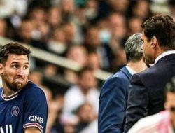 Ditarik Keluar Pada menit ke-76, Messi Tampak Kesal Pada Mauricio Pochettino