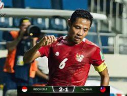 Gol Evan Dimas dan Ramai Rumakiek Bawa Timnas Indonesia Taklukkan Taiwan