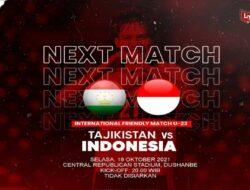 Matangkan Persiapan, Timnas Indonesia Siap Jajal Kekuatan Tajikistan
