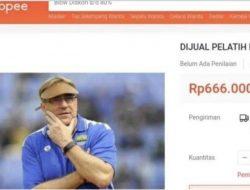 Kesal Tak Pernah Menang, Pelatih Persib Dijual di Toko Online