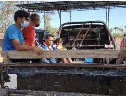 Raih Emas PON Papua 2021, Atlet Muaythai NTT Dijemput Pakai Pick Up